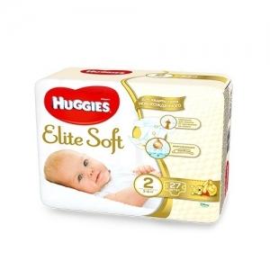 HUGGIES Elite Soft подгузники № 2 (4-7 кг) 27 шт.