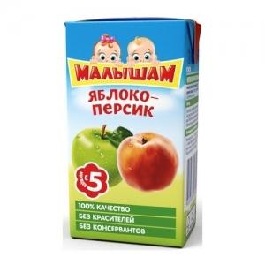 """""""Малышам"""" 200 мл. нектар Яблоко + Персик с 5 месяцев"""