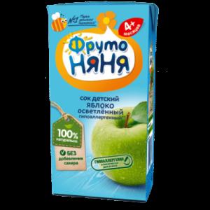 """""""ФрутоНяНя"""" 200 мл. сок из Яблок осветлённый с 3 месяцев"""