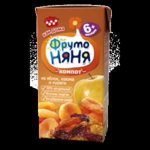 """""""ФрутоНяНя"""" 200 мл. Компот из Яблок, Изюма и Кураги с 6 месяцев"""