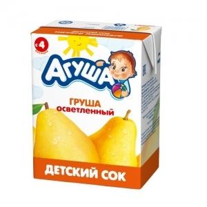 """Агуша"" 200 мл. сок Груша осветлённый с 4 месяцев"