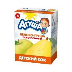 """""""Агуша"""" 200 мл. сок Яблоко-Груша осветлённый с 4 месяцев"""