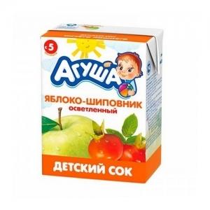 """""""Агуша"""" 200 мл. сок Яблоко-Шиповник осветлённый с 5 месяцев"""