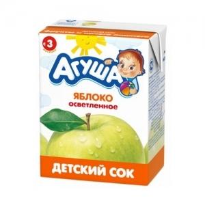 """""""Агуша"""" 200 мл. сок Яблоко осветлённый с 3 месяцев"""
