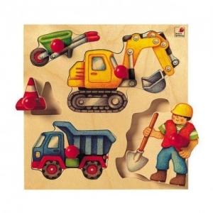 """Selecta Деревянная игрушка Пазл для самых маленьких """"Стройка"""" 2038"""