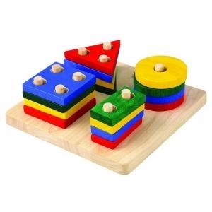 PLAN TOYS Деревянная игрушка Геометрическая сортировка 2403