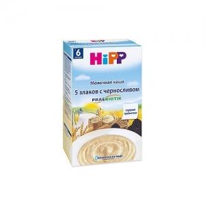"""HiPP"" каша Молочная  5 злаков с черносливом  с пребиотиками"