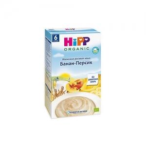 """""""HiPP"""" каша молочная рисовая с бананом и персиком 250 г."""