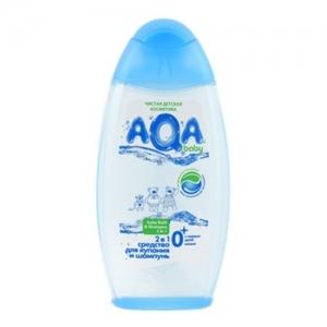 """""""AQA"""" baby 2 в1 средство для купания и шампунь для малыша 250 мл."""
