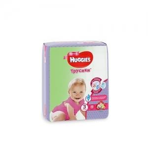 Трусики-подгузники HUGGIES для девочек Conv-Pack №3 (7-11 кг) 19 шт.