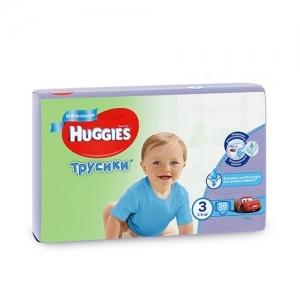 Трусики-подгузники HUGGIES для мальчиков Mega-Pack №3 (7-11 кг) 58 шт.