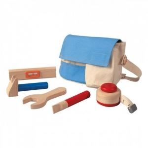 PLAN TOYS Деревянная игрушка Набор инструментов в сумочке 3462