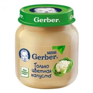 """""""Gerber"""" пюре Цветная капуста с 4 месяцев 130 г."""