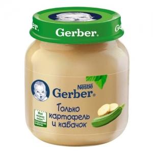 """""""Gerber"""" пюре Картофель и Кабачок с 5 месяцев 130 г."""