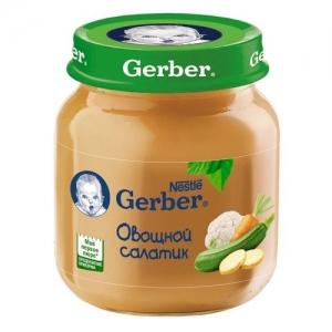 """""""Gerber"""" пюре Овощной салатик с 5 месяцев 130 г."""