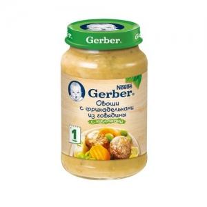 """""""Gerber"""" пюре Овощи с Фрикадельками из Говядины с 12 месяцев 200 г."""