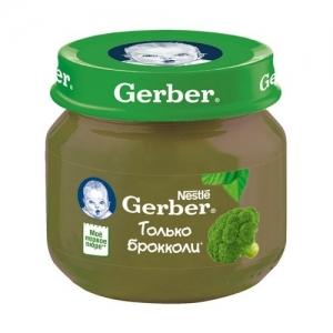 """""""Gerber"""" пюре Брокколи с 4 месяцев 80 г."""