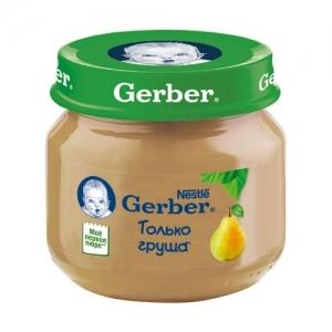 """""""Gerber"""" пюре Груша с 4 месяцев 80 г."""