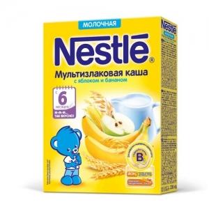 Nestle Каша Молочная Мультизлаковая с Яблоком и Бананом 220 г. с 6 месяцев