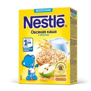 Nestle Каша Молочная Овсяная с Яблоком 220 г. с 5 месяцев