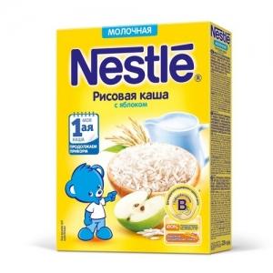 Nestle Каша Молочная Рисовая с Яблоком 220 г. с 5 месяцев