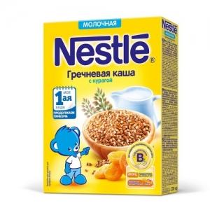 Nestle каша Молочная Гречневая с Курагой 220 г. с 5 месяцев