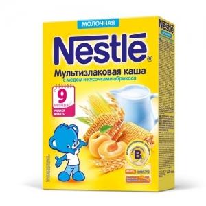 Nestle Каша Молочная Мультизлаковая с Медом и Кусочками Абрикоса 220 г. с 8 месяцев