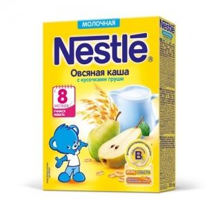 Nestle каша Молочная Овсяная с кусочками груши 220 г. с 8 месяцев