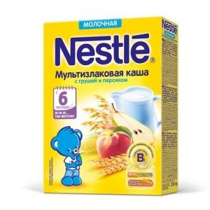 Nestle Каша Молочная Мультизлаковая с Грушей и Персиком 220 г. с 6 месяцев