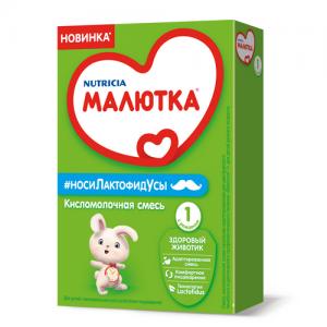 """""""МАЛЮТКА 1"""" КислоМолочная смесь  с Рождения 350 г."""