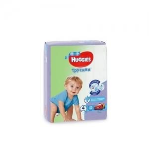 Трусики-подгузники HUGGIES для мальчиков Conv-Pack №4 (9-14 кг) 17 шт.