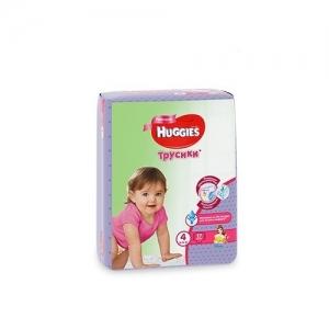 Трусики-подгузники HUGGIES для девочек Conv-Pack №4 (9-14 кг) 17 шт.