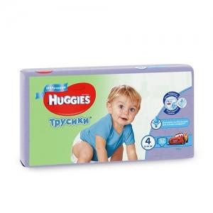 Трусики-подгузники HUGGIES для мальчиков Mega-Pack №4 (9-14 кг) 52 шт.