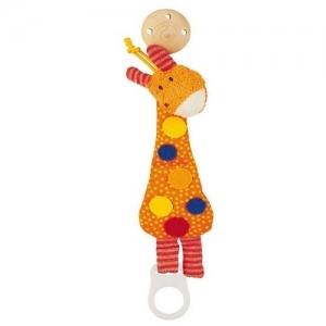 40096 Sigikid Мягкая игрушка-держатель для пустышки Жирафик
