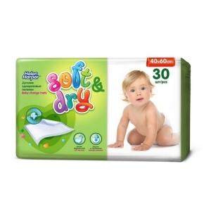 Пелёнки одноразовые детские  Helen Harper Soft&dry  (40*60) 30 шт.