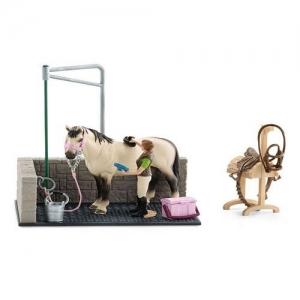 42104 Игрушечный набор для мойки лошадок