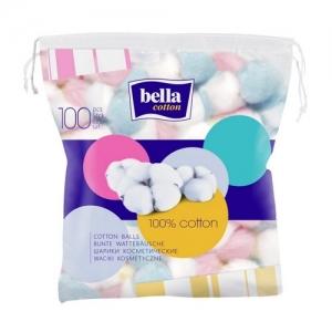 Шарики косметические  Белла cotton цветные 100 шт