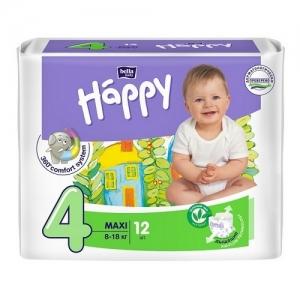 Подгузники Happi Maxi 4 (8-18 кг) 12 шт
