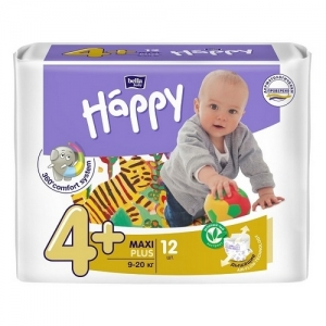 Подгузники Happi Maxi plus 4+ (9-20 кг) 12 шт