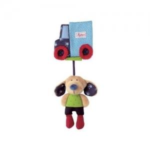 Sigikid Мягкая игрушка-развивающая Собачка с машинкой подвеска 49146