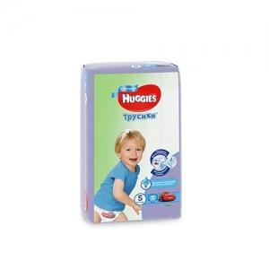 Трусики-подгузники HUGGIES для мальчиков Conv-Pack №5 (13-17 кг) 15 шт.