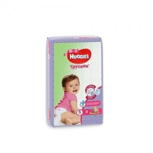 Трусики-подгузники HUGGIES для девочек Conv-Pack №5 (13-17 кг) 15 шт.