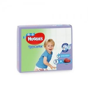 Трусики-подгузники HUGGIES для мальчиков Jumbo-Pack №5 (13-17 кг) 32 шт.