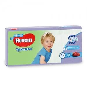 Трусики-подгузники HUGGIES для мальчиков Mega-Pack №5 (13-17 кг) 48 шт.