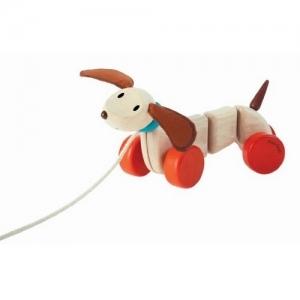 PLAN TOYS Деревянная игрушка Каталка-Счастливый Пёсик 5101