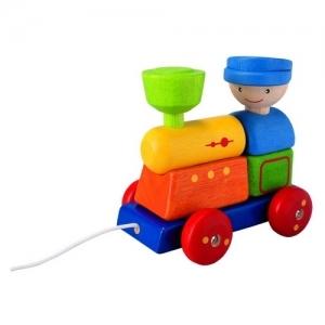 PLAN TOYS Деревянная игрушка Сортировка Паровозик 5119
