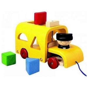 PLAN TOYS Деревянная игрушка Сортировка Автобус 5121