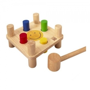 PLAN TOYS Деревянная игрушка Забивалка Смайлик 5126