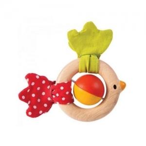 PLAN TOYS Деревянная игрушка Погремушка Птичка 5216