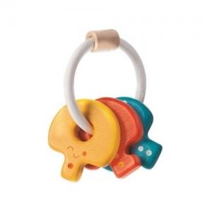 PLAN TOYS Деревянная игрушка Погремушка Ключики 5217